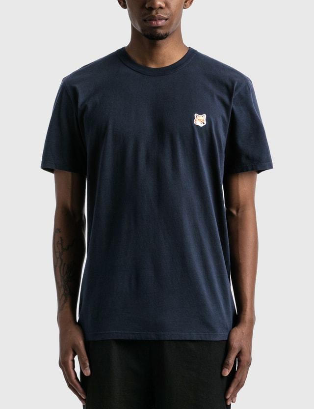 Maison Kitsune Fox Head Patch Classic T-shirt Navy Men