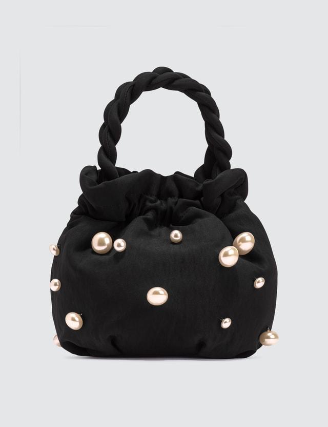 Staud Satin Pearl Grace Bag