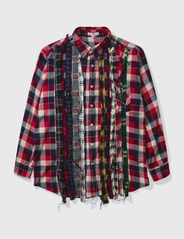 Needles Needles Ribbon Wide Flannel Shirt