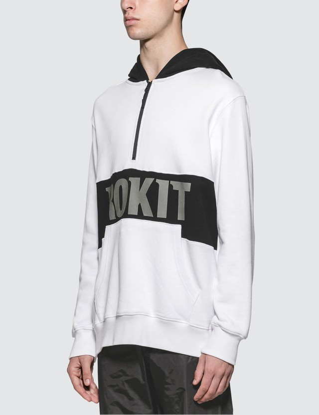 Rokit The Allstar Quarter Zip White Men