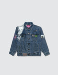 Hey Babe Hand Painted Denim Collage Jacket Picture