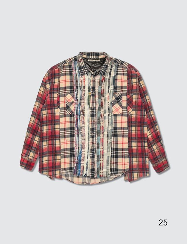 Needles Ribbon Cuts Flannel Shirt