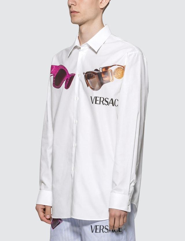 Versace Medusa Biggie Print Shirt Bianco Ottico Men