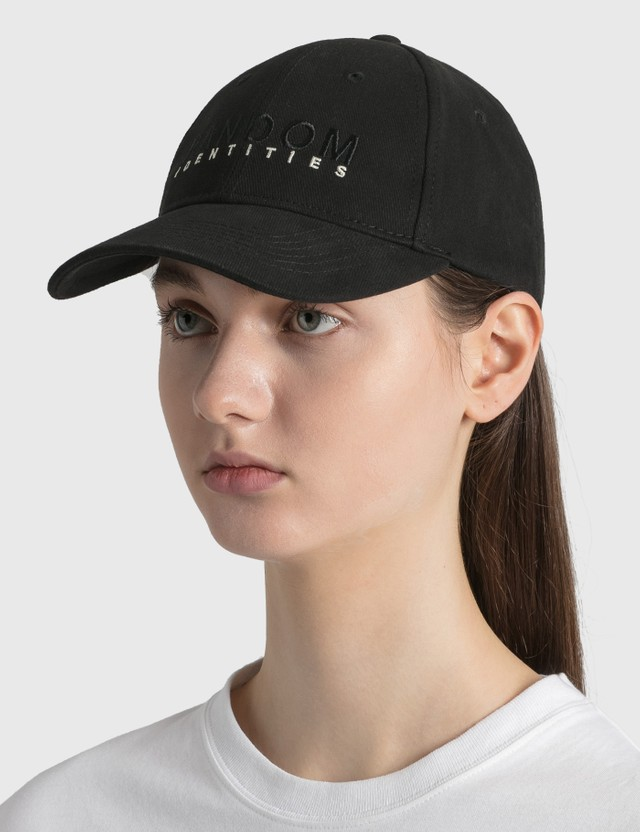 Random Identities Embroidered Logo Cap Black/beige Women