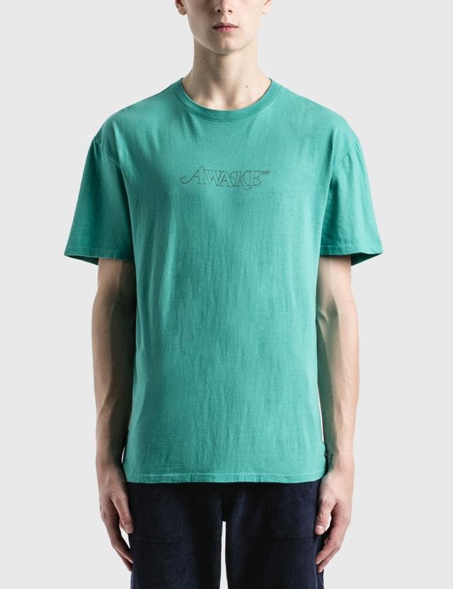 Awake NY Classic Outline Logo T-Shirt Teal Men