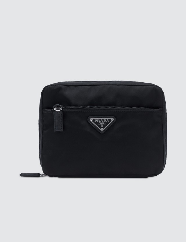Prada Small Multi Nylon Zip Pouch