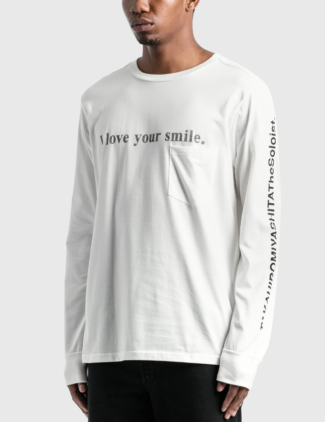 Takahiromiyashita Thesoloist I Love Your Smile Long Sleeve T-Shirt White Men