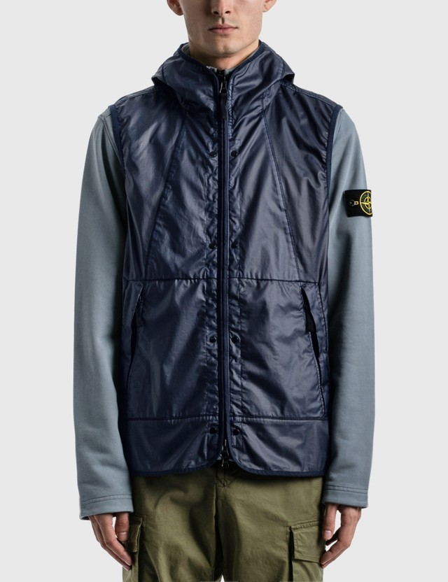 Stone Island Vest + Sweatshirt Mid Blue  Men