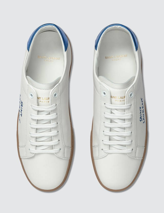 Saint Laurent Court Classic SL/06 Embroidered Leather Sneaker White Men