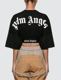 Palm Angels Cropped Logo Over Tee