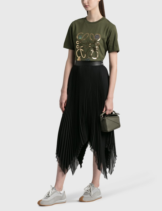 Loewe 미니 퍼즐 백 Khaki Green Women