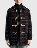 Saint Laurent Check Duffle Coat In Wool 사진