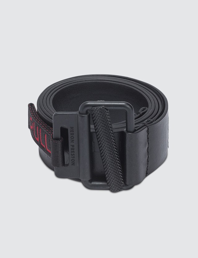 Heron Preston Embossed Leather Belt