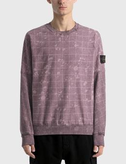 Stone Island Dyed Check Sweatshirt