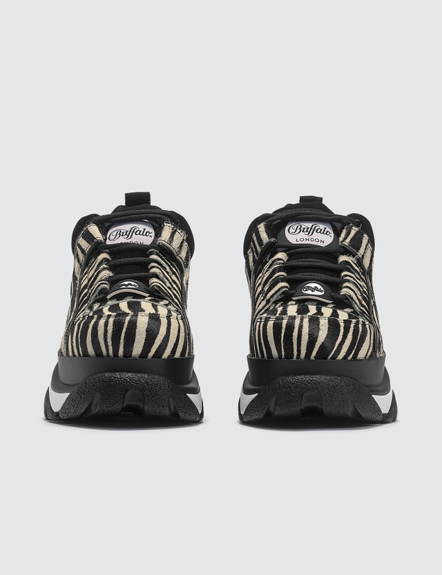 Buffalo London Zebra Fur Low Top Platform Sneakers