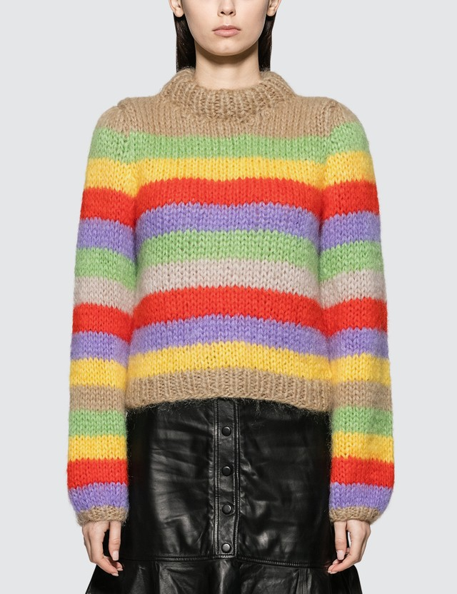 Ganni The Julliard Mohair Multicolour Women