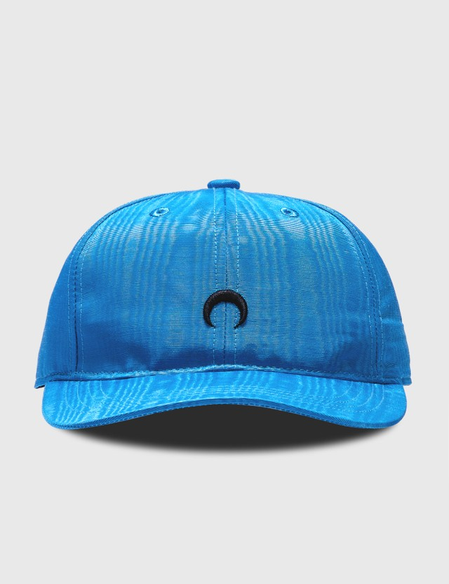 Marine Serre Moire Branded Cap 06 Cobalt Color Women