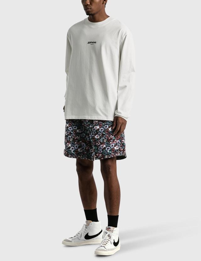 Earthling Collective Felt Logo Oversize Long Sleeve T-shirt White Men