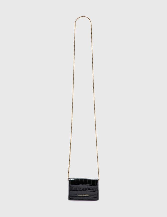 Alexander McQueen Card Holder On Chain Black Women
