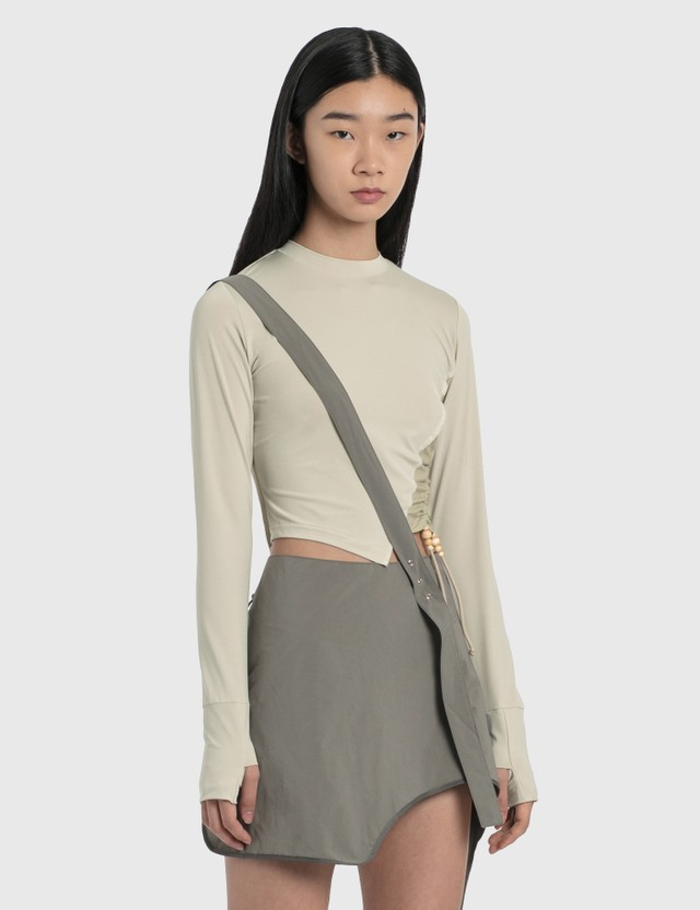 Hyein Seo Twisted Long Sleeve Top Ivory Women