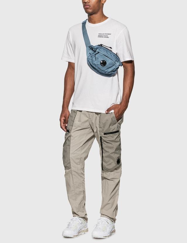 CP Company Garment Dyed Lens Crossbody Bag Faded Denim Men
