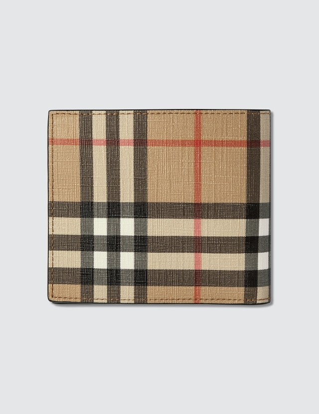 Burberry Vintage Check E-canvas International Bifold Wallet