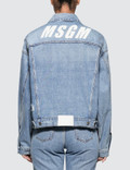 MSGM New Logo Msgm Light Blue Washed Denim Jacket Picutre