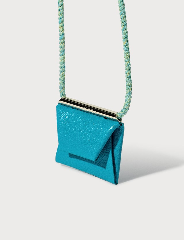 Lanvin Envelope Necklace Turquoise Women