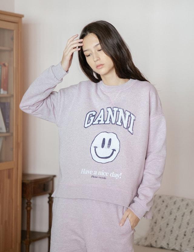 Ganni Isoli Smiley Sweatshirt