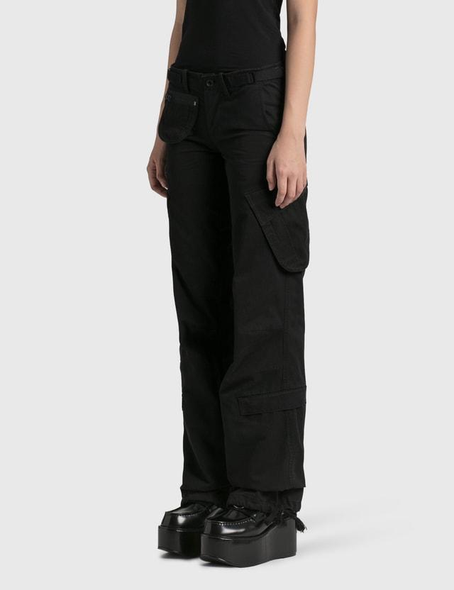 Hyein Seo Low Rise Cargo Pants Black Women