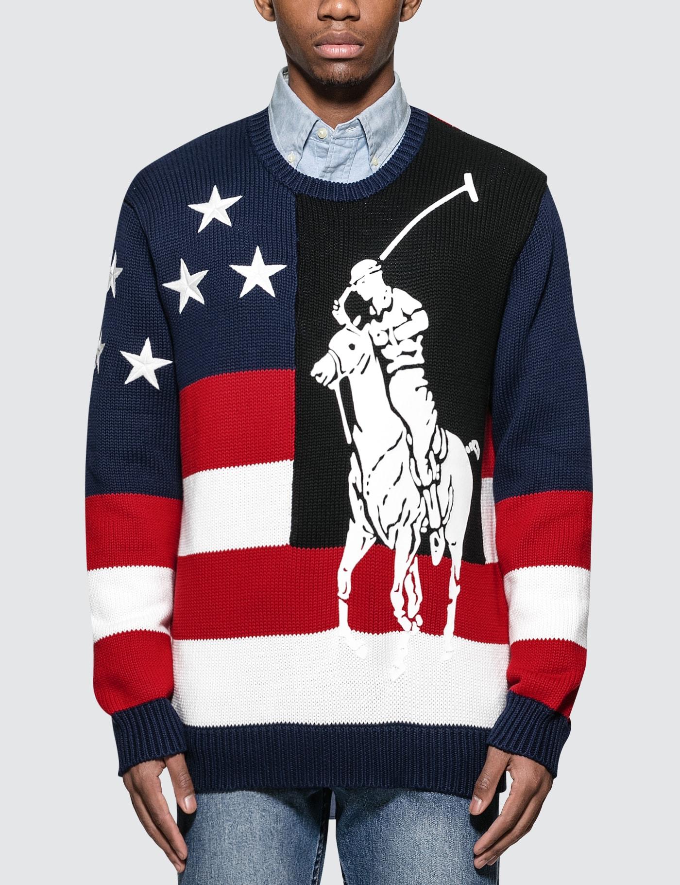 Graphic-intarsia Cotton-knit Sweater