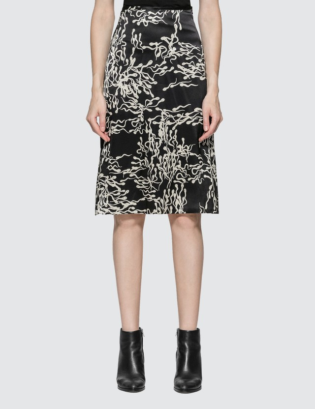 Ashley Williams Slip Sperm Print Silk Skirt Sperm Women