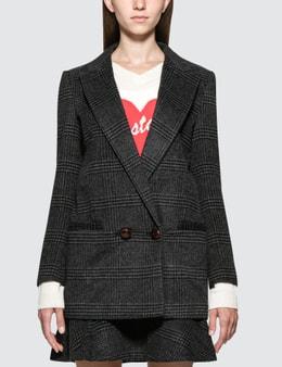 GANNI Plaid Blazer Jacket Picture