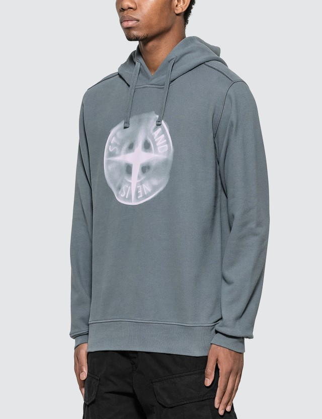 Stone Island Airbrushed Compass Logo Hoodie