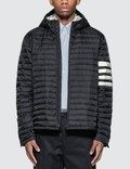 Thom Browne 4 Bar Stripe Down-filled Quilted Hooded Jacket Picutre