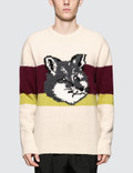 Maison Kitsune Color-block Fox Head Pullover Picture