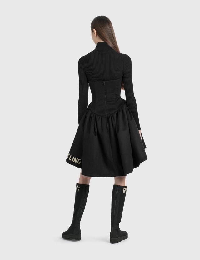 Emporio Armani R-EA Show Tulip Dress Black Women