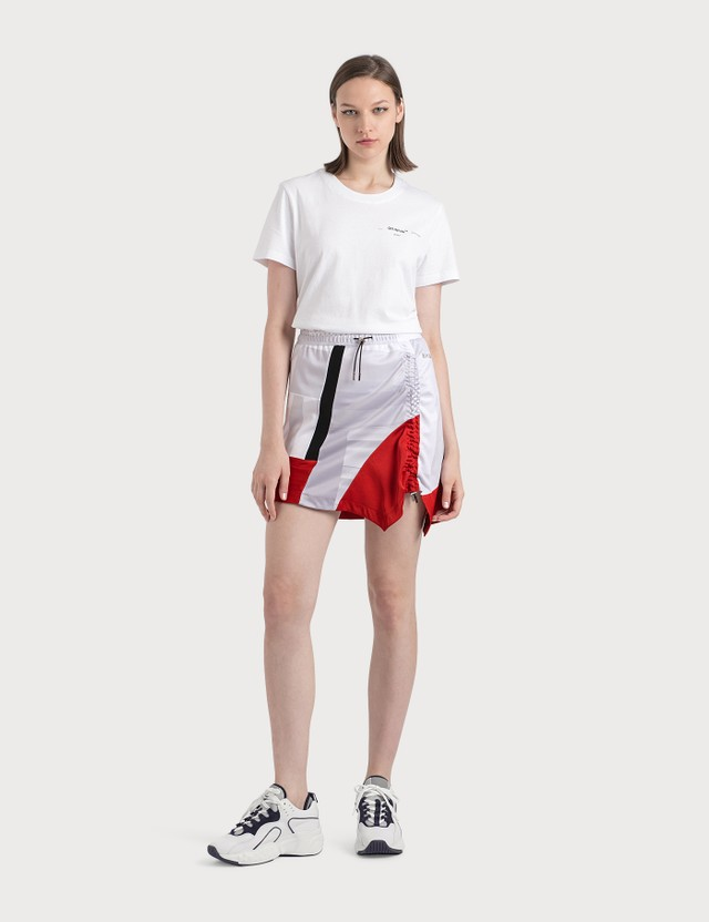 KOCHÉ Asymmetrical Gathered Skirt Pr067/pl083 Grey Multico Sport Print Women