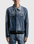 Marine Serre Moon Denim Patchwork Jacket 사진