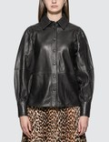 Ganni Lamb Leather Shirt Picutre