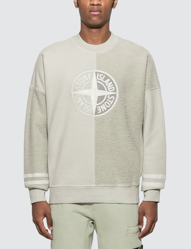 Stone Island 'OLD' Dye Treatment Logo Sweatshirt