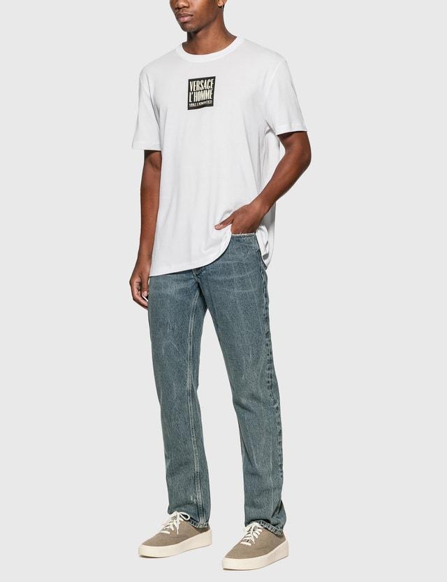 Versace L'Homme Motif T-Shirt Bianco Ottico Men