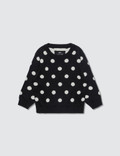 Meme Polka Dots Knit Sweater 사진