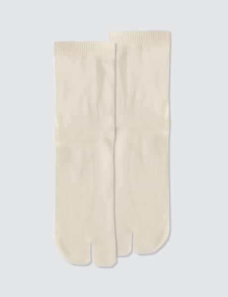 메종 마르지엘라 타비 양말 - 화이트 Maison Margiela Tabi Socks