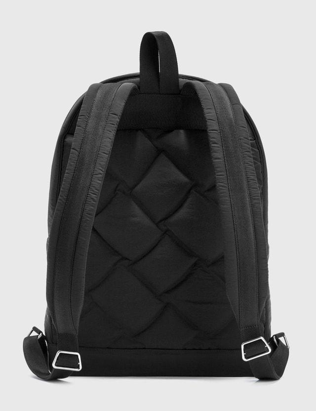 Bottega Veneta Light Paper Nylon Puffy Backpack Black  Men