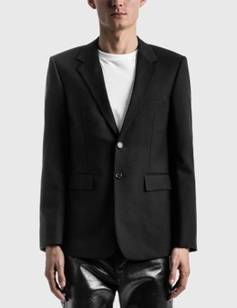 Saint Laurent Long Single-Breasted Blazer