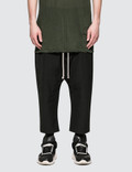 Rick Owens Drkshdw Drawstring Cropped Pants Picture