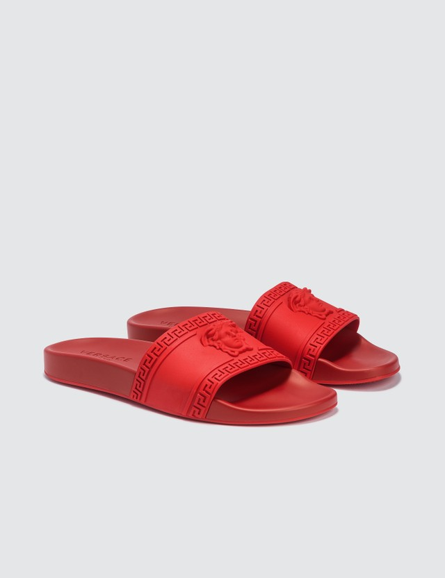 Versace Logo Pool Slides