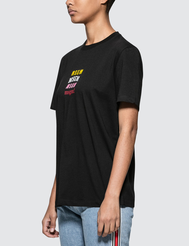 MSGM Mix Logo Short Sleeve T-shirt