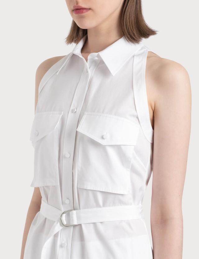 Helmut Lang Cotton Shirt Dress With Collar 100 - White Women